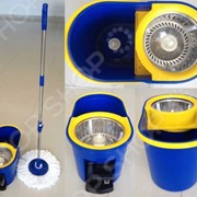 Комплект для уборки полов: швабра, ведро с отжимом QYMOP-02 Spin Mop фото