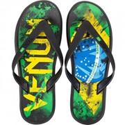 "Сланцы Venum ""Brazilian Flag"" Sandals GRN/YEL/BL фото"