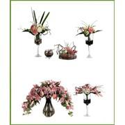 Искусственные цветы для фитодизайна фото