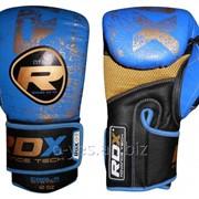 Боксерские перчатки RDX Ultra Gold Blue фото