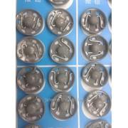 Кнопки пришивные металлические №6 фото