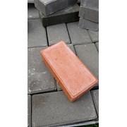 Плитка тротуарная Кирпичик персиковый цвет фото