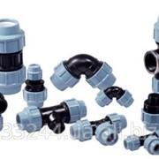 Полипропиленовые компрессионные фитинги для труб ПНД фото