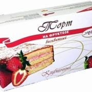 """Торт на фруктозе """"Клубничный"""" купить в Алматы, заказать диабетический торт в Алматы фото"""