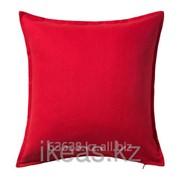 Чехол на подушку, красный ГУРЛИ фото
