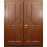 Двери двухстворчатые с отделкой МДФ с двух сторон фото