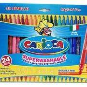 Фломастеры 24 цв. 2 сторонние Carioca 41521 фото