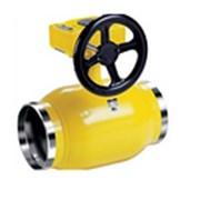 Кран стальной шаровой LD Ду 350 Ру 16 для газа сварка c редуктором фото