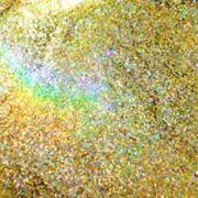 Блестки золотистые, голография. фото