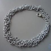 Цепочки серебряного цвета фото