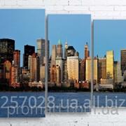 Модульна картина на полотні Панорама New York код КМ100130-052 фото