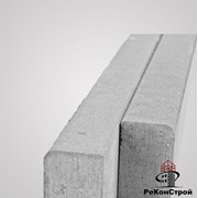 Поребрик тротуарный бордюр BRAER, БР100.20.8, серый, тест фото