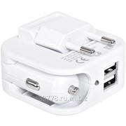 Адаптер с двумя USB-портами для зарядки от сети и от прикуривателя Socket фото