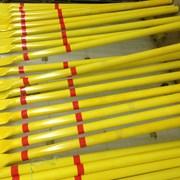 Столбик СОГ желтый h=1,8м для газопровода  фото