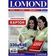 Картон самоклеящийся двухсторонний Lomond 330х440мм, 170 г/м2, 20 листов 1513002 фото