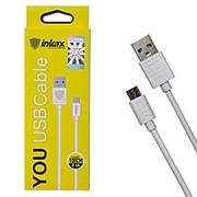 Кабель USB inkax CK-01 V8 Micro 1000mm {white} фото