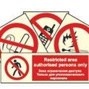 Запрещающие знаки, фотолюминесцентные фото