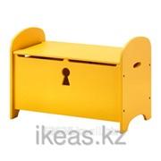 Скамья с ящиком, желтый ТРУГЕН фото