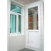 Двери звукоизоляционные металлопластиковые VEKA фото