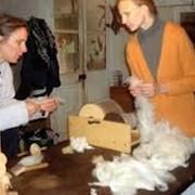 Прочесывание шерсти изготовление корпе, машинная ческа шерсти фото