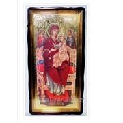 Икона Всецарица Божья матерь, в фигурном киоте, с багетом Храмовая 60х110 фото