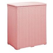 Корзина для белья плетеная, розовая фото