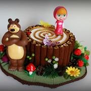 """Дитяча композиція з цукерок """"Маша і Медвідь"""" фото"""