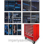 Набор инструментов в красной тележке, 286 предметов KING TONY 934A-010MRV фото