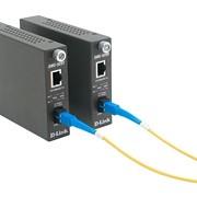 Конвертор D-Link 10 100Mbps UTP в 100Mbps SM Single Fiber 20km, SC, ресивер, опт фото