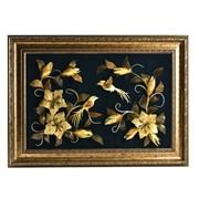 Картина янтарная Лилии и Колибри фото