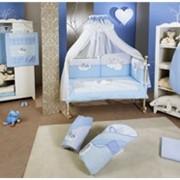 Rabbit Blue Premium Feretti комплекты для детской кроватки фото