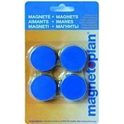 Магниты Magnetoplan Magnum d=34х13мм, 10шт/уп, в коробке, синие 1660014 фото