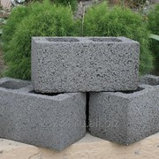 Фундаментный керамзитобетонный блок 2400 х 500 х 600 мм фото