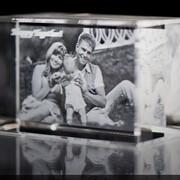 Фото в кристалле, Куб с 2D фото фото