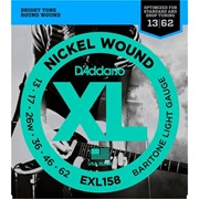 Струны для электрогитары D'Addario EXL158 XL Baritone Light (6 струн .013-.062) фото