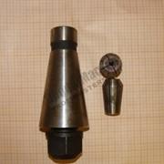 Патрон цанговый 7:24 ISO 50 М24х3мм (с набором цанг) фото