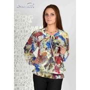 Блуза 6501-1 Цветы цвет фото