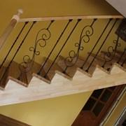 Деревянные лестницы из сосны, лиственницы, дуба фото