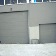 Промышленные секционные ворота ISD01 4500*4500 фото