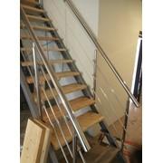 Изготовление и монтаж лестниц, на одном либо на двух косоурах в частных домах и таун-хаусах фото