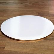 Поднос круглый бел/зол фото
