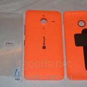 Крышка задняя оранжевая для Microsoft Lumia 640 XL + ПЛЕНКА В ПОДАРОК 3126 фото