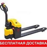 Тележки гидравлические с электропередвижением г/п 1,5т, Н подъема 200мм. фото