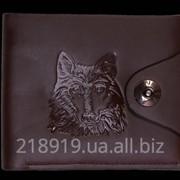Мужской кошелек 208 волк р. к фото