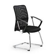 Кресло компьютерное Halmar VIRE SKID (черный) фото