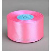 Лента атлас 50 мм, розовый (рул 33 м) фото