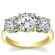Кольцо классическое с бриллиантами SI1/G 1.01 Ct фото
