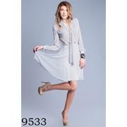"""9533 Шифоновое платье в горошек, уникального силуэта """"песочные часы"""" фото"""