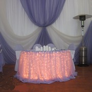 Драпировка тканью, оформление свадеб фото