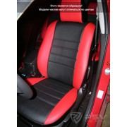 Чехлы Mazda 3 09 5 п/г чер-сер эко-кожа Оригинал фото